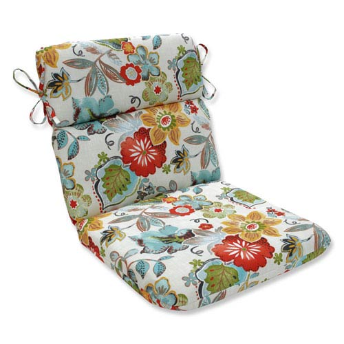 Outdoor / Indoor Alatriste Ivory Rounded Corners Chair Cushion