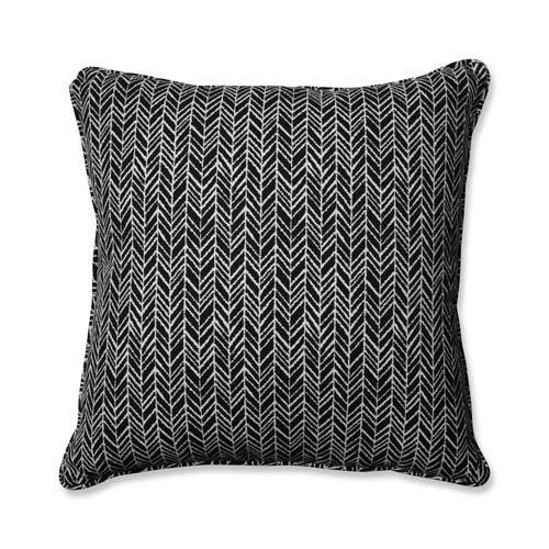Outdoor / Indoor Herringbone Night 25-inch Floor Pillow