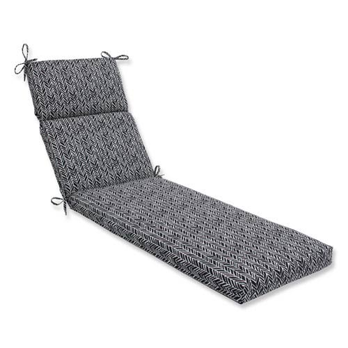 Outdoor / Indoor Herringbone Night Chaise Lounge Cushion
