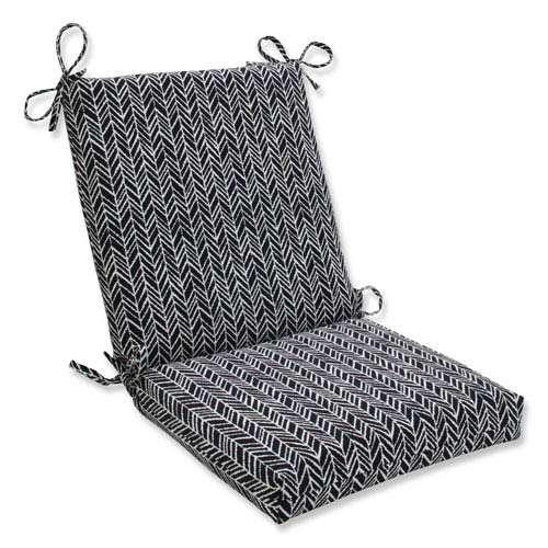 Outdoor / Indoor Herringbone Night Squared Corners Chair Cushion