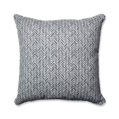 Outdoor / Indoor Herringbone Slate 25-inch Floor Pillow