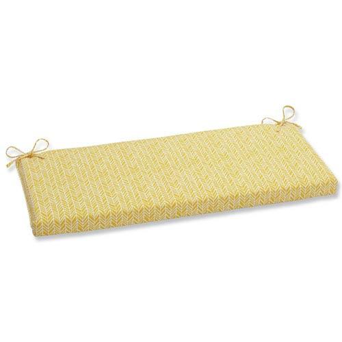 Outdoor / Indoor Herringbone Egg Yolk Bench Cushion