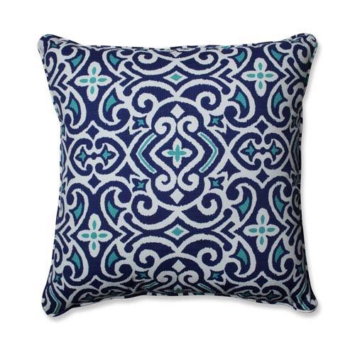Outdoor / Indoor New Damask  Marine 25-inch Floor Pillow