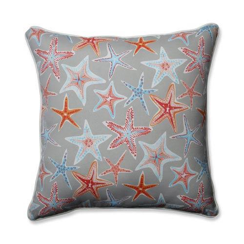 Outdoor / Indoor Stars Collide Pewter 25-inch Floor Pillow