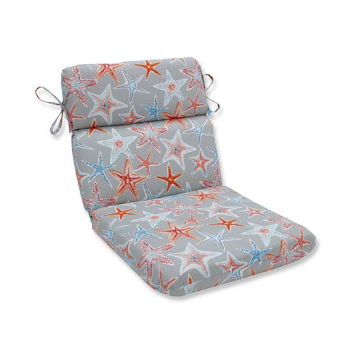 Outdoor / Indoor Stars Collide Pewter Rounded Corners Chair Cushion