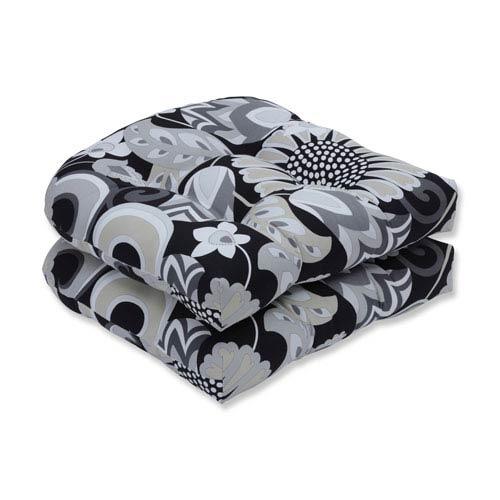 Outdoor / Indoor Sophia Graphite Wicker Seat Cushion (Set of 2)
