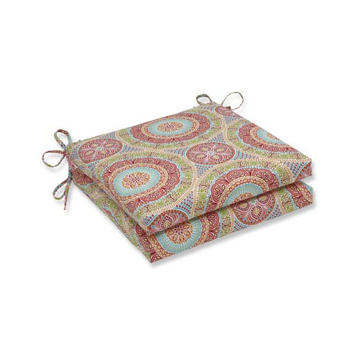 Outdoor / Indoor Delancey Jubilee Squared Corners Seat Cushion 20x20x3 (Set of 2)