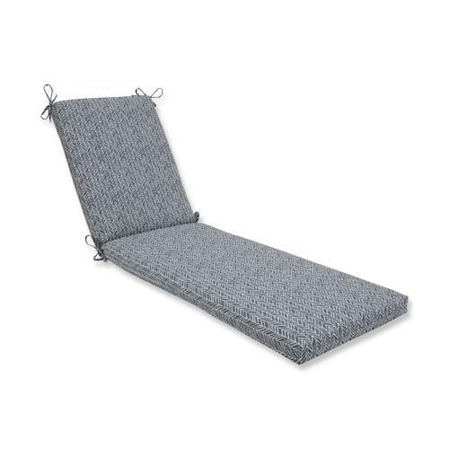 Pillow Perfect Outdoor / Indoor Herringbone Slate Chaise Lounge Cushion 80x23x3