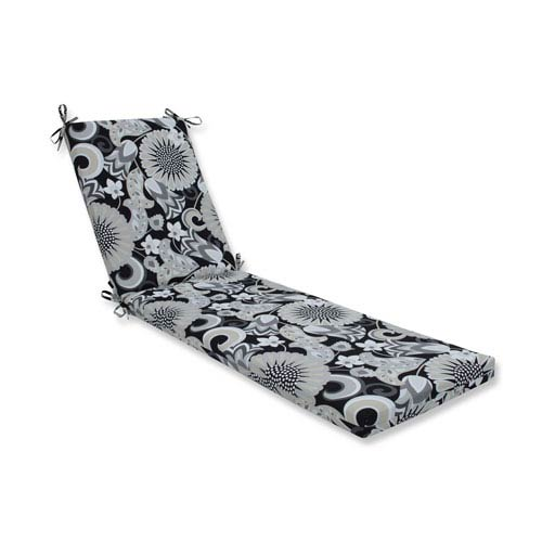 Outdoor / Indoor Sophia Graphite Chaise Lounge Cushion 80x23x3