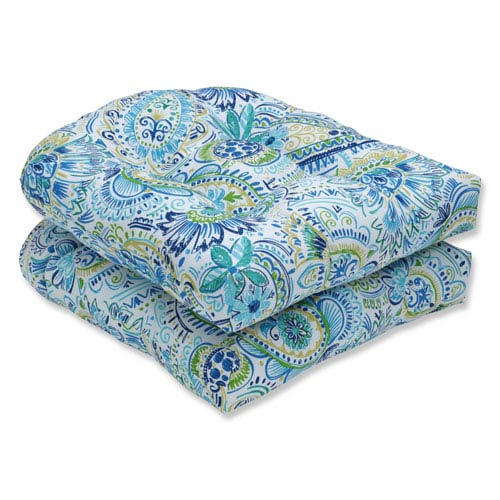 Pillow Perfect Outdoor / Indoor Gilford Baltic Wicker Seat Cushion (Set of 2)