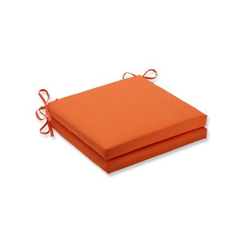 Sundeck Orange Squared Corners Seat Cushion, Set of 2