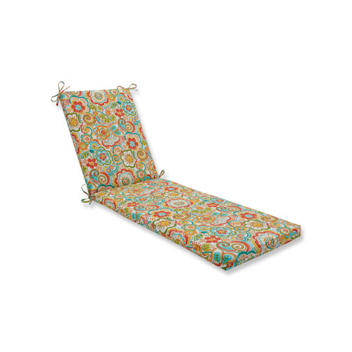 Pillow Perfect Bronwood Carnival Chaise Lounge Cushion