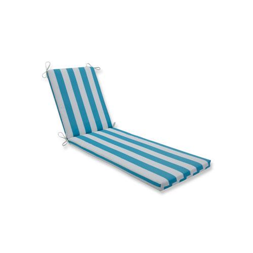 Cabana Stripe Turquoise Chaise Lounge Cushion