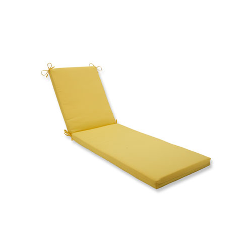 Pillow Perfect Fresco Solids Yellow Chaise Lounge Cushion