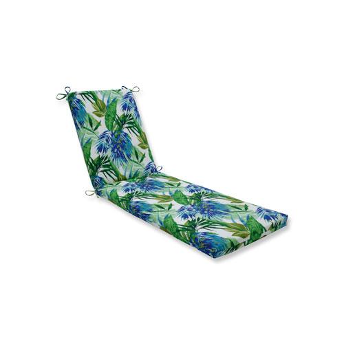 Soleil Blue/Green Chaise Lounge Cushion