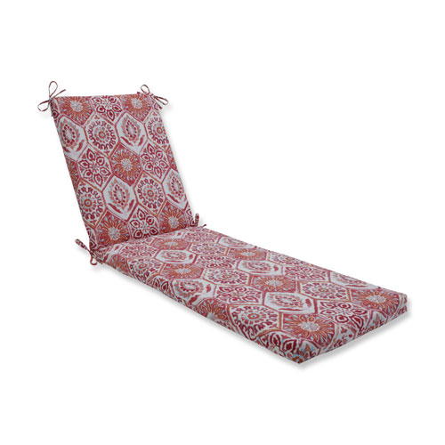Pillow Perfect Summer Breeze Grenadine Chaise Lounge Cushion