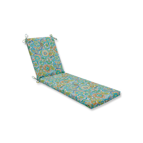 Pillow Perfect Bronwood Caribbean Chaise Lounge Cushion