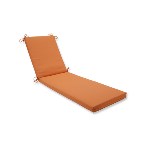 Canvas Tangerine Chaise Lounge Cushion
