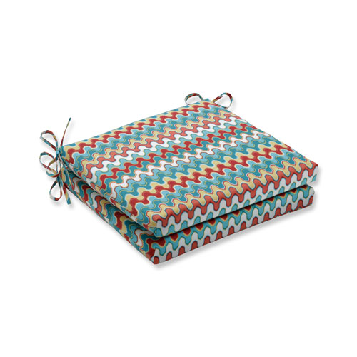 Pillow Perfect Nivala Navajo Squared Corners Seat Cushion, Set of 2