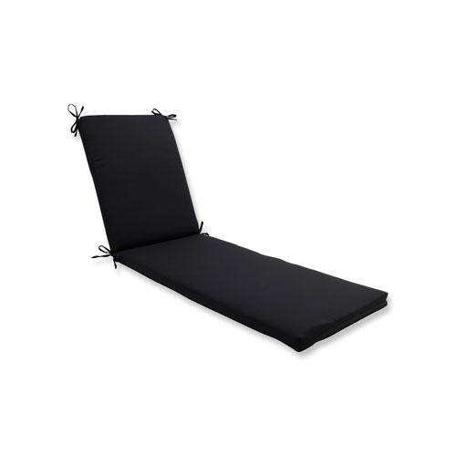 Fresco Black Chaise Lounge Cushion