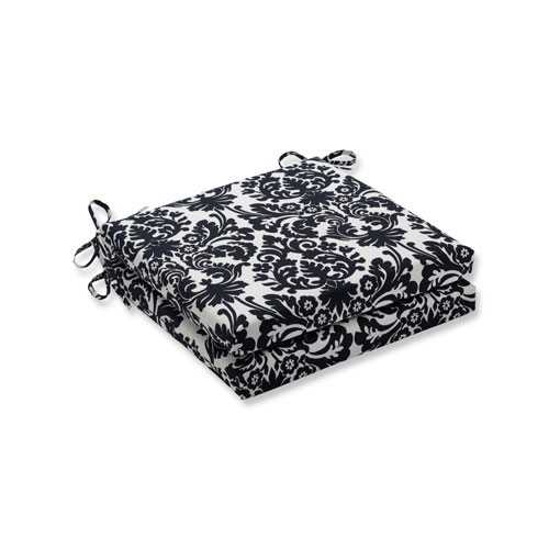 Pillow Perfect Essence Onyx Squared Corners Seat Cushion, Set of 2