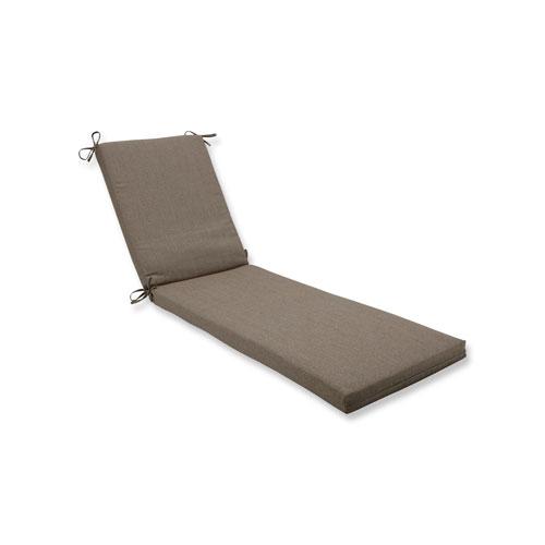 Pillow Perfect Linen Sesame Chaise Lounge Cushion