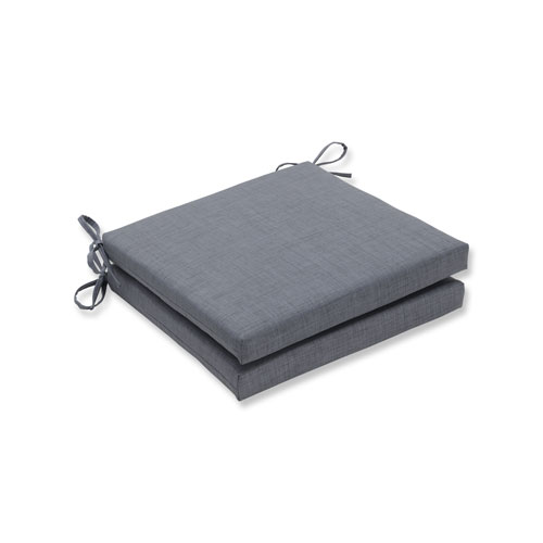 Rave Graphite Squared Corners Seat Cushion, Set of 2