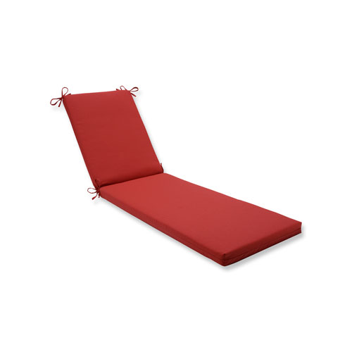 Pillow Perfect Tweed Red Chaise Lounge Cushion