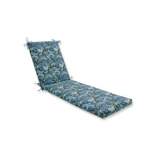 Pretty Paisley Navy Chaise Lounge Cushion