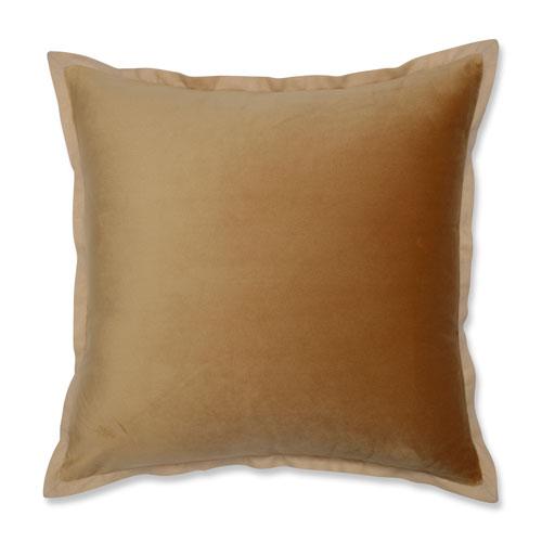 Velvet Flange Umber Gold 18-Inch Throw Pillow
