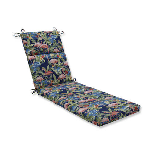 Flamingoing Lagoon Blue Chaise Lounge Cushion