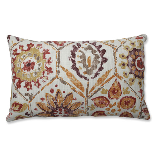 Pillow Perfect Indoor Antique Stone Spice Purple Rectangular Throw Pillow