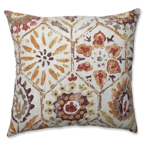 Indoor Antique Stone Spice Purple 18-Inch Throw Pillow