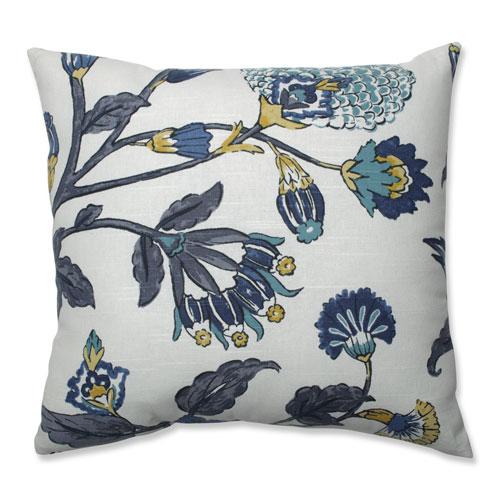 Pillow Perfect Pillow Perfect Indoor Auretta Peacock Gray 18-inch Throw Pillow