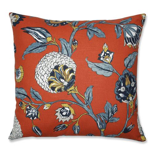 Pillow Perfect Indoor Auretta Persimmon Blue 24.5-Inch Floor Pillow