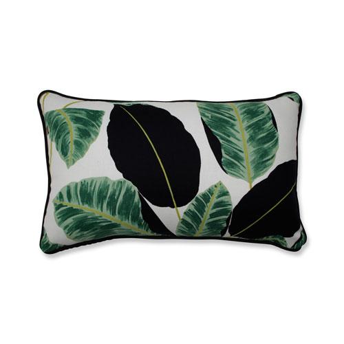 Pillow Perfect Pillow Perfect Indoor Hojas Cubanas Rainforest Black Rectangular Throw Pillow