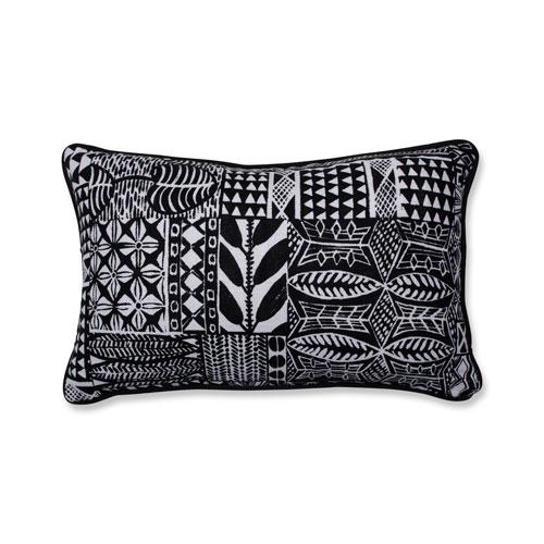 Pillow Perfect Indoor Imani Jet Black Rectangular Throw Pillow