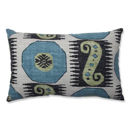 Pillow Perfect Pillow Perfect Indoor Souk Treasure Indian Blue Rectangular Throw Pillow