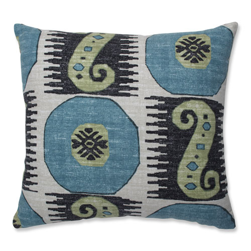 Pillow Perfect Pillow Perfect Indoor Souk Treasure Indian Blue 16.5-inch Throw Pillow