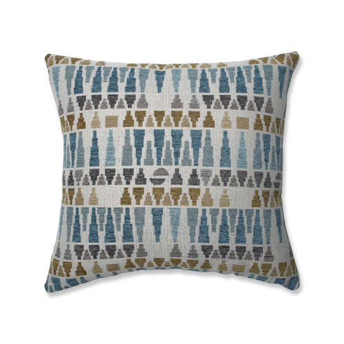 Pillow Perfect Pillow Perfect Indoor Blue Sky Blue/Gold/Gray 16.5 Inch Throw