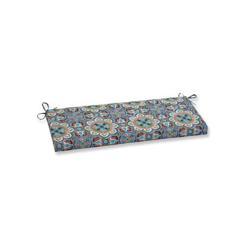 Lagoa Tile Flamingo Blue Bench Cushion