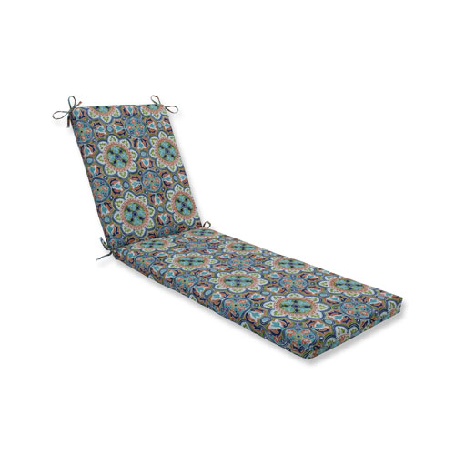 Lagoa Tile Flamingo Blue Chaise Lounge Cushion 80x23x3
