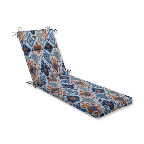 Paso Azure Blue Chaise Lounge Cushion
