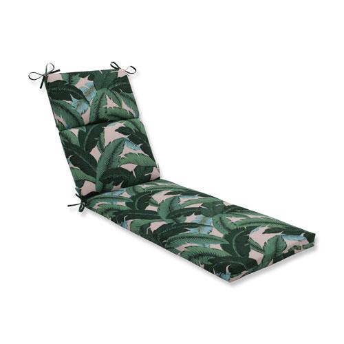 Swaying Palms Capri Blue Chaise Lounge Cushion
