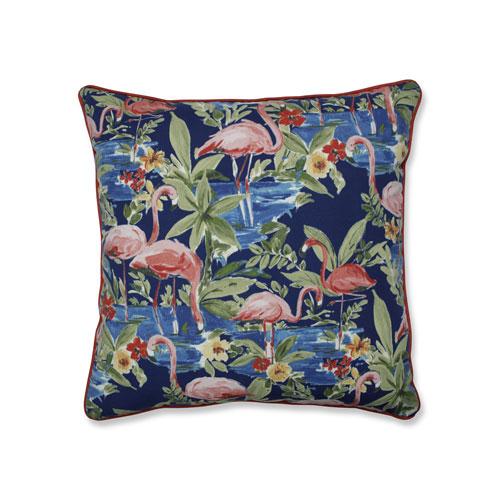 Flamingoing Lagoon Blue 25-Inch Floor Pillow