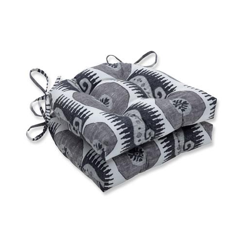 Pillow Perfect Souk Treasure Midnight Black Reversible Chair Pad (Set of 2)