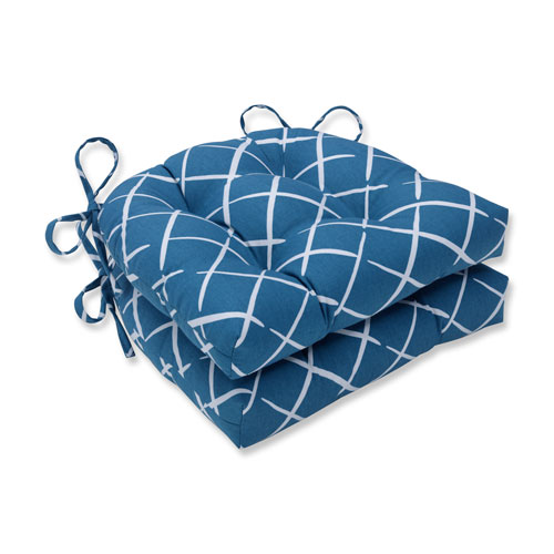 Indoor Cove End Pool Reversible Chair Pad- Set of 2