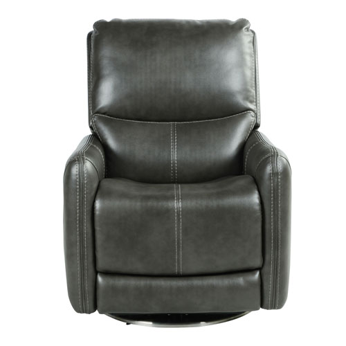 Athens Charcoal Swivel Power Recliner