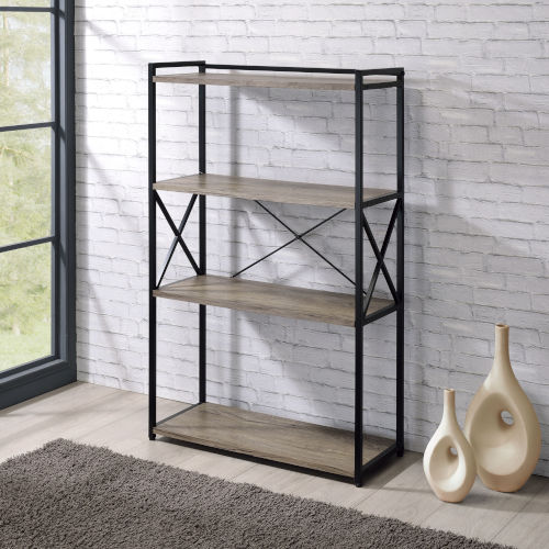 Corday Gray and Black Bookcase