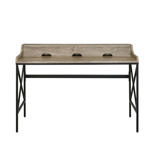 Corday Gray and Black Desk with USB Port